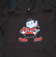 Cleveland Browns Brownie Elf Gildan Brown Hoodie XL