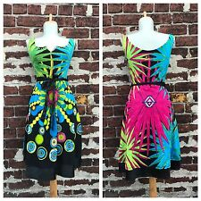 Desigual sz S Artsy Colorful Palm Tree Printed Jersey Knit Tank Dress