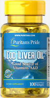 Puritan's Pride Cod Liver Oil 415 mg - 100 Softgels (free shipping)