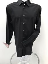 Paul Smith Mens Gents Collar Size 15.5 Black Long Sleeved Shirt -