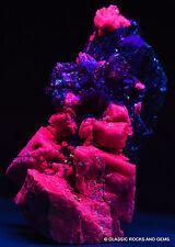 Large aegirine crystals Fluorescent UV feldspar quartz Mt Malosa Malawi 10.3cm