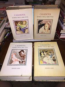 CASANOVA STORIA DELLA MIA VITA 4 vol EDIZIONI CASINI 1961ill BERNARDINO PALAZZI