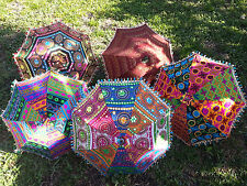 Shade. Organic Vintage Parasols Indian Fabric Cool Boho Gift Oneofakind Color