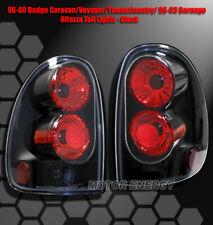 96-00 DODGE CARAVAN/VOYAGER/98-03 DURANGO TAIL LIGHTS BLACK SE ES LE LX LXi SLT