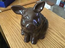Ceramic Pig Kitchen Utensil Holder Country The Neelys- Brown Pig