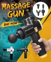 Carbon Fiber Percussive Vibration Therapy Massage Gun Athlete Sports Recovery UK