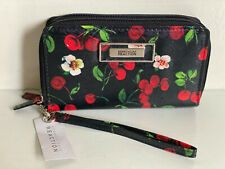 NEW! KENNETH COLE REACTION CHERRY PRINTED DOUBLE ZIP WALLET WRISTLET $50 SALE