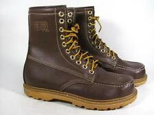 Vintage Texas Steer Moc Toe Work Boot Insulated Men size 8.5 Brown