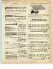 1938 PAPER AD Montague Jointed Split Bamboo Fly Fishing Rod Red Wing Heddon