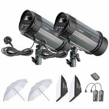 Studio Flash Strobe Photography Lighting Soft box Reflector & Umbrella Flash Kit