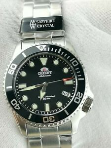 ORIENT NEW TRITON BLACK DIAL 200M AUTOMATIC SAPPHIRE CRYSTAL RA-AC0K01B10B WATCH