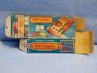 ORIGINAL VINTAGE EMPTY MATCHBOX BOX FOR MAZDA RX 500 NO 66 TOY CAR
