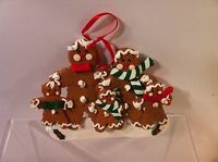"""GINGERBREAD CHRISTMAS ORNAMENT--FAMILY--4"""" X 5"""" --FREE SHIP--NEW"""