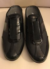 DKNY Women's Reveal Black Slip Ons Wedge Mules Fashion Sneakers Shoes Size:7.5