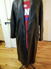 Womens 100% Leather mid lenght coat Size Medium