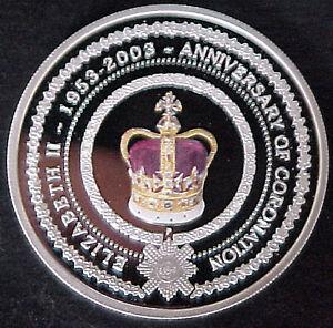 2003 Australia Perth Mint Silver Queen's Coronation Jubilee Commemorative Coin