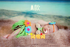 Grass Skirts Outfits Baby Girls Newborn 0-6M Knit Crochet Costume Photo Prop