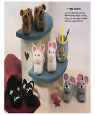 Pet pal enfants chaussons knitting pattern 99p