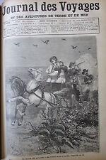 JOURNAL DES VOYAGES N° 668 de 1890 AMERIQUE DU SUD CHASSE BATITOUS SIBERIE OR