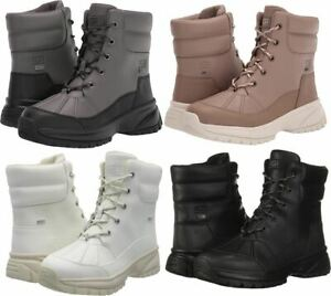 Authentic UGG Yose Women's Snow Waterproof Boot Caribou , Gray & White