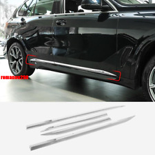 For BMW X5 G05 2019 2020 Stainless Chrome Body Side Door Molding Cover Trim 4pcs