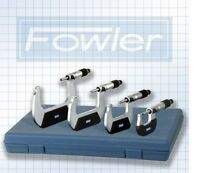 Fowler 4 Pc. Outside Micrometer Metric Set 0-100mm -