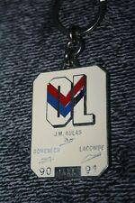 rare Porte clé OL )) LYON  Olympique Lyonnais 1990/91 numéroté 1556 - signature