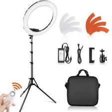 LED Ring Light With Light Stand 18 Inch 55W Dimmable Photography Lights Youtube