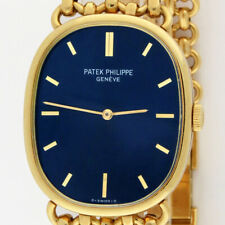 Patek Philippe Golden Ellipse 3848/1 18K Gold Bracelet Mechanical Watch 27x32mm