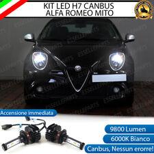 KIT FULL LED ALFA ROMEO MITO ABBAGLIANTI H7 6000K 9800 LUMEN CANBUS