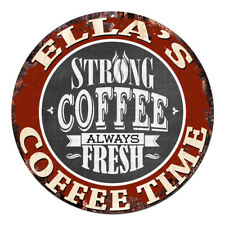 CWCT-0210 ELLA'S COFFEE TIME Chic Tin Sign Decor Gift Ideas