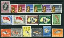 Weeda Singapore 27, 43-59 MNH 1953-1962 issues CV $29
