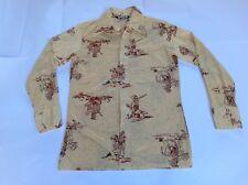 vintage LEVIS Western Long Sleeve Shirt with INDIANS Original RARE sz. MEDIUM og