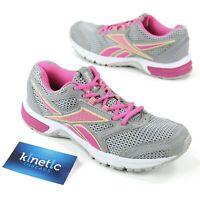 Reebok Southrange Run Womens Sz 7.5 Running Grey Pink Lemon Breast Cancer Ribbon