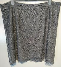 Monsoon Lilia Lace Floral Skirt Green Uk 22 Bnwt Lined
