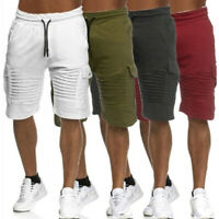 Mens Cargo Shorts Pants Casual Army Combat Hiking Bottoms Summer Trousers M-2XL