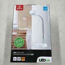 Globe Electric Company 5 WATT LED Desk Lamp, WHITE 250 LUMENS 3000K Warm Light