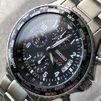 "Seiko SZER047 Chronograph 7T92-0VG0 ""ANA"" Limited Flightmaster Pilot Watch #269"