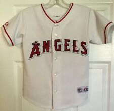 2f2310337d9 MAJESTIC SEWN VLADIMIR GUERRERO #27 ANAHEIM ANGELS WHITE MLB JERSEY SIZE S/M