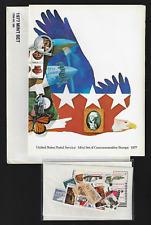 US Commemorative Stamps — 1977, Mint Year Set in Album & Original Cover  — MNH