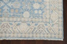 All-Over Floral Muted Light Blue/Gray Oushak Oriental Area Rug Vegetable Dye 6x9