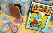 40236 Schtroumpfette bicyclette smurf pitufo puffi puffo Rarissime boite H.Kong