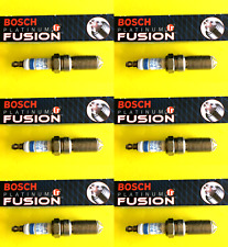 New SET OF 6 BOSCH Platinum Ir Iridium Fusion Spark Plugs - 4515 Made in Germany