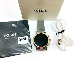 Fossil Gen 5 Julianna Stainless Steel Touchscreen Smartwatch w speaker FTW6061