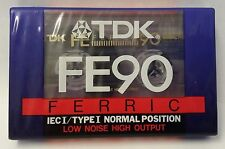 Blank Cassette Tape. TDK FE90 Ferric. Low Noise. High Output. 90 Minutes. Sealed