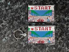 Outrun Arcade Keyring and Magnet Set (Start Line) Retro Gaming