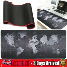 More details for large world map desk gaming game anti-slip mouse mat computer desktop cover pad