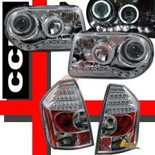 Chrysler 300C SRT-8 Dual G3 Halo Projector Headlights & LED Tail Lights Chrome