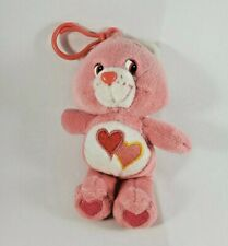 Care Bears Plush Keychain Love-A-Lot Bear with Hearts