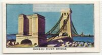 Hudson River Bridge New York 1930s Ad Trade Card